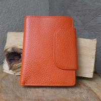 Kleines Portemonnaie Leder orange